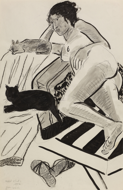 , 'Model with Cats ,' 1972, Anglim Gilbert Gallery