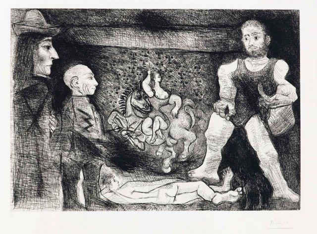 Pablo Picasso, 'Picasso, son oeuvre, et son public, from La Série 347', 1968, Christie's
