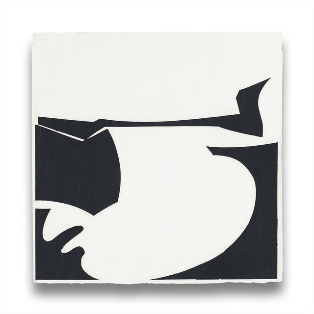 Joanne Freeman, 'Covers 13-Black C', 2014, Painting, Gouache on handmade Khadi paper, IdeelArt