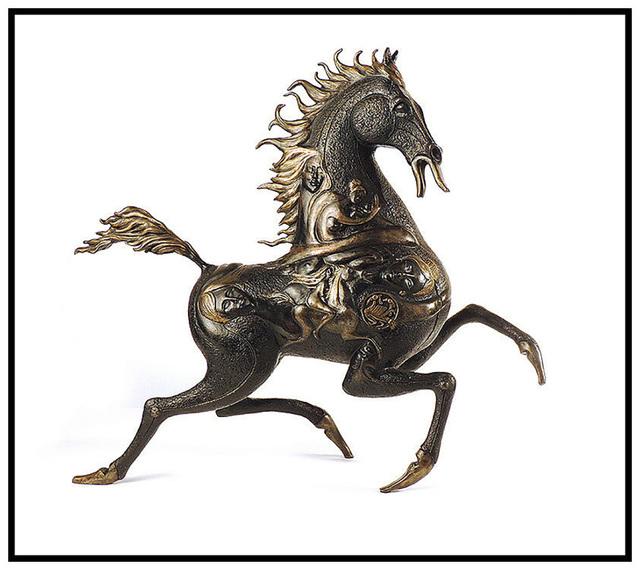 Jiang Tiefeng, 'Black Horse', 1988, Sculpture, Full Round Bronze Sculpture, Original Art Broker