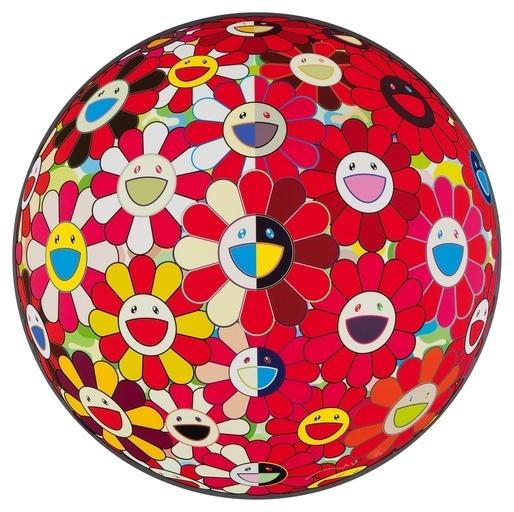 Takashi Murakami, 'Flowerball Red 3D - The Magic Flute', 2010, Dope! Gallery
