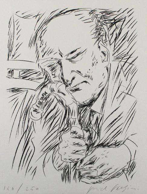 Pericle Fazzini, 'Giuseppe Ungaretti', 1965, Print, Lithograph, Sylvan Cole Gallery