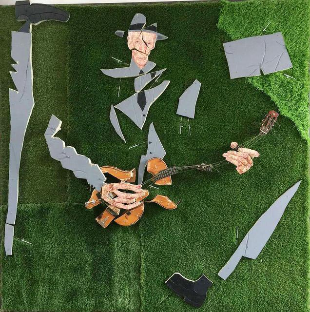 , '弹琴的人之一-草地上的巴勒斯,' 2015, Beijing Art Now Gallery