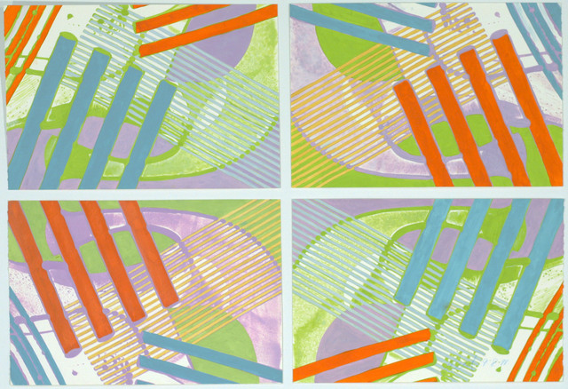 , '9891 (A, B, C, D Quadtych),' 1991, David Richard Gallery