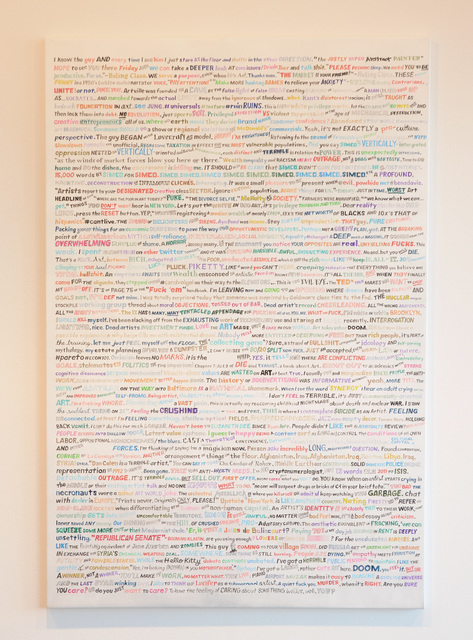 , 'Some Twitter (August to January),' 2015, Gallery Poulsen