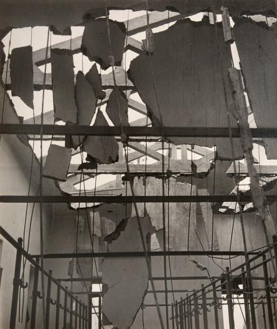 , 'Shell-Shattered Ceiling, Fire Station, Tobruk, Libya,' 1942, Huxley-Parlour