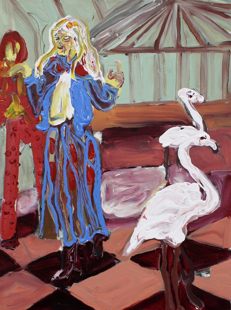 , 'Flamingo's In The Sun Lounge,' 2018, Arusha Gallery
