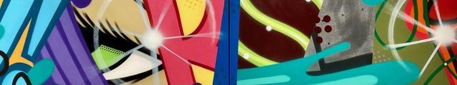 CRASH, 'Untitled Diptych', 2021, Painting, Spray Paint on Canvas, JoAnne Artman Gallery