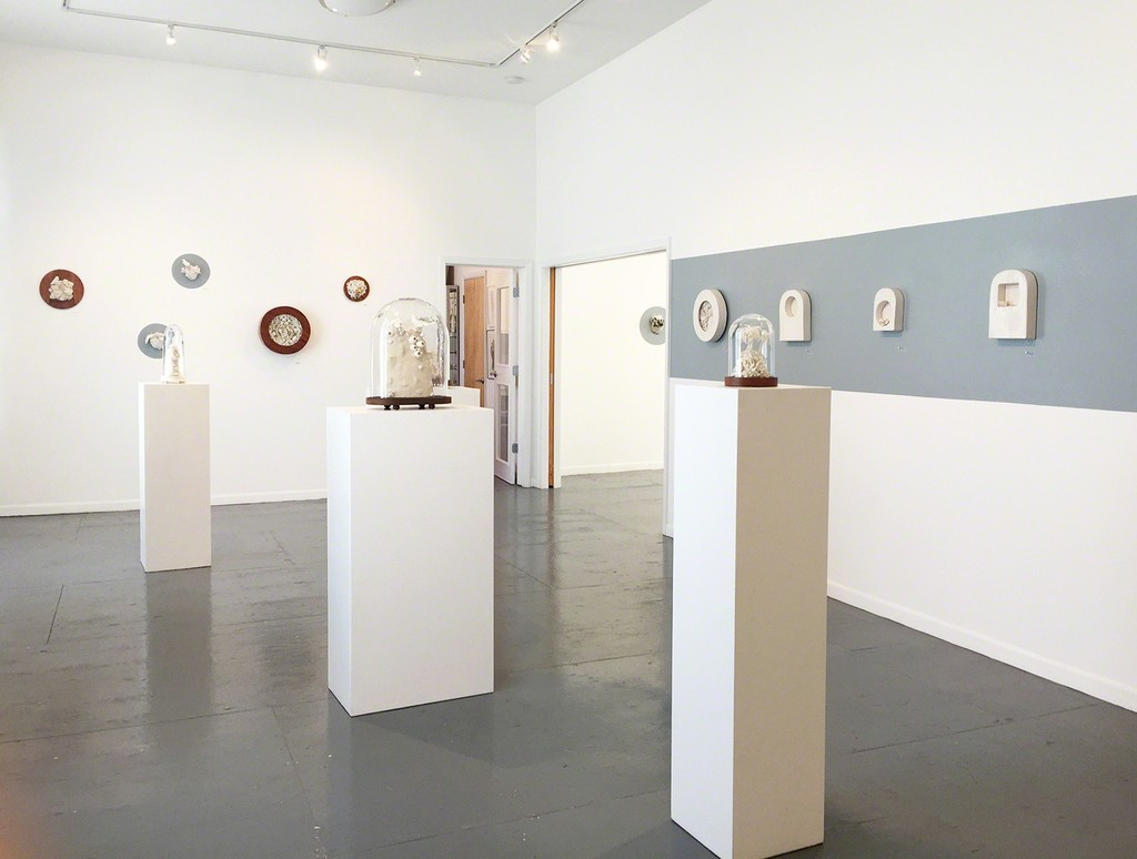 Gallery view, Malia Landis porcelain and mixed media works