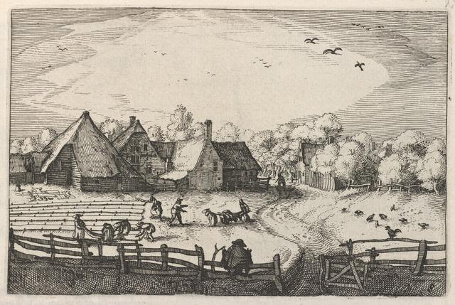 Claes Jansz Visscher, 'Blekerye aededuyne gelegen (Farms and Bleaching-Fields)', ca. 1611/1612, Print, Etching, National Gallery of Art, Washington, D.C.