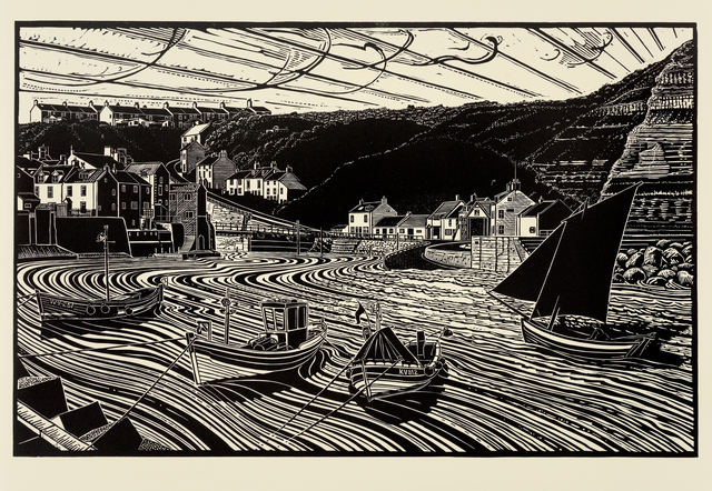 , 'Keel Boats and Cobles, Staithes,' , Dowling Walsh