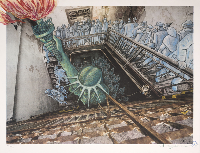 , 'Ghosts of Ellis Island,' 2018, Marlborough Graphics