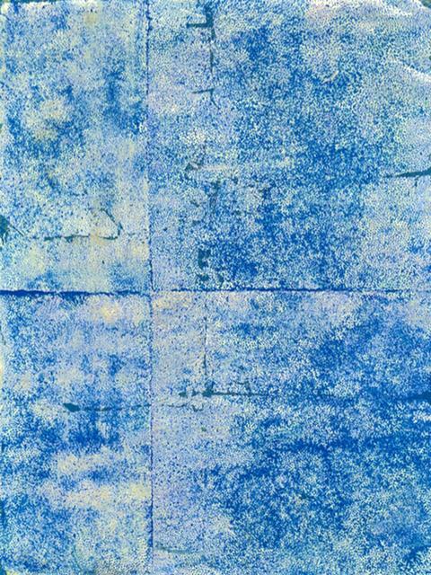 , 'Blue on Gold,' 2014, Abe+Okuta