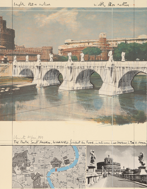 , 'The Ponte Sant' Angelo, Wrapped (Project for Rome),' 1989, Galerie Boisseree