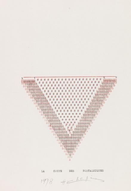 , 'La Coupe des Nostalgiques,' 1978, Richard Saltoun