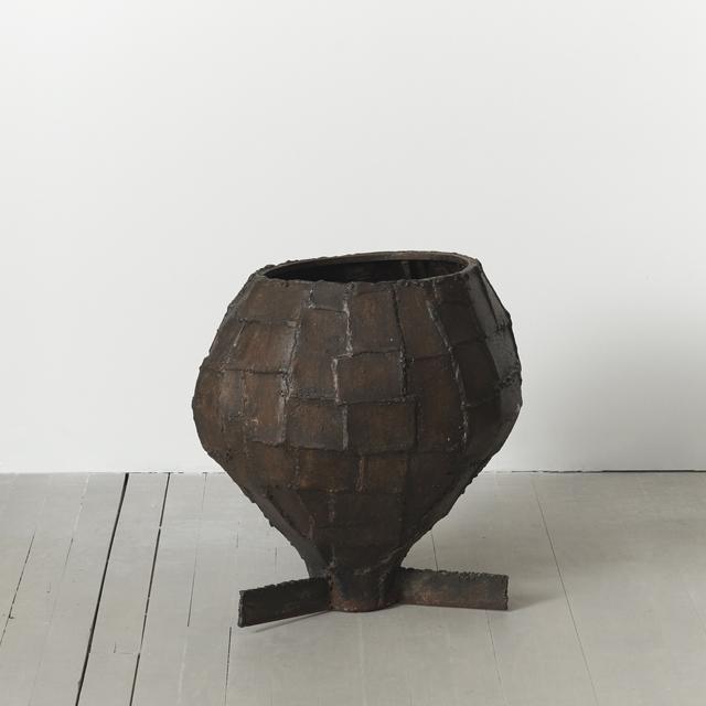 Paul Evans (1931-1987), 'Welded Patchwork Steel Urn, USA', ca. 1970, Design/Decorative Art, Steel, Todd Merrill Studio
