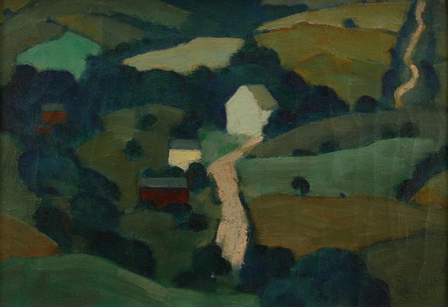 Ross Braught, 'Hilly Roads', ca. 1925, Painting, Oil on canvas, Private Collection, NY