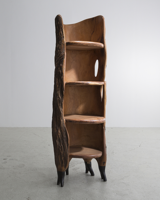", 'Sculptural ""Khamb (Thunder Cabinet)"" carved shelf. ,' 2014, R & Company"