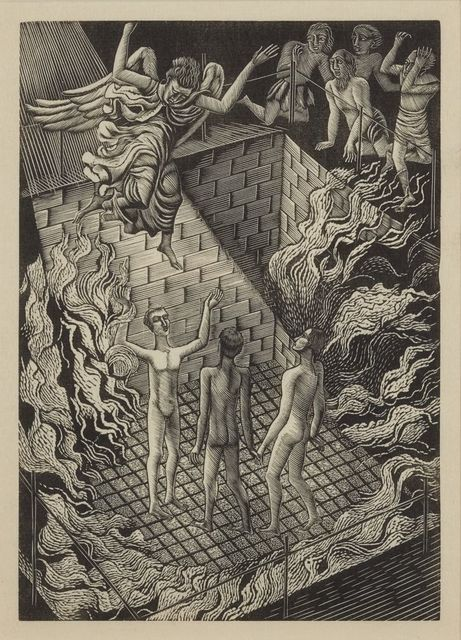Eric Ravilious, 'From Ballad Upon A Wedding', 1927, Print, Two wood engravings on wove, from Ballad Upon a Wedding, Roseberys