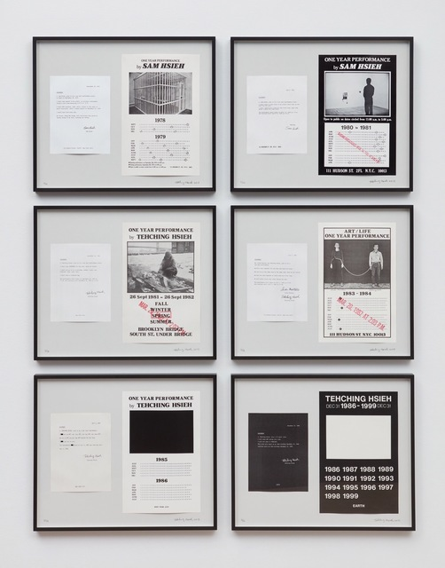 , 'Tehching Hsieh 1978 - 1999,' 1978-1999, Sean Kelly Gallery