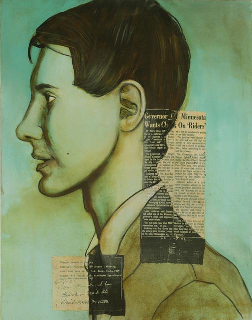 Charlotta Janssen, 'David Morton (Profile) 21 yrs, from Minneapolis  MN Arrested 6/11/1961 Jackson MS', 2011, Hudson Milliner Art Salon
