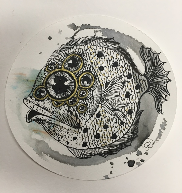 , 'Multiple Eyed Fish,' 2018, The Directed Art Modern