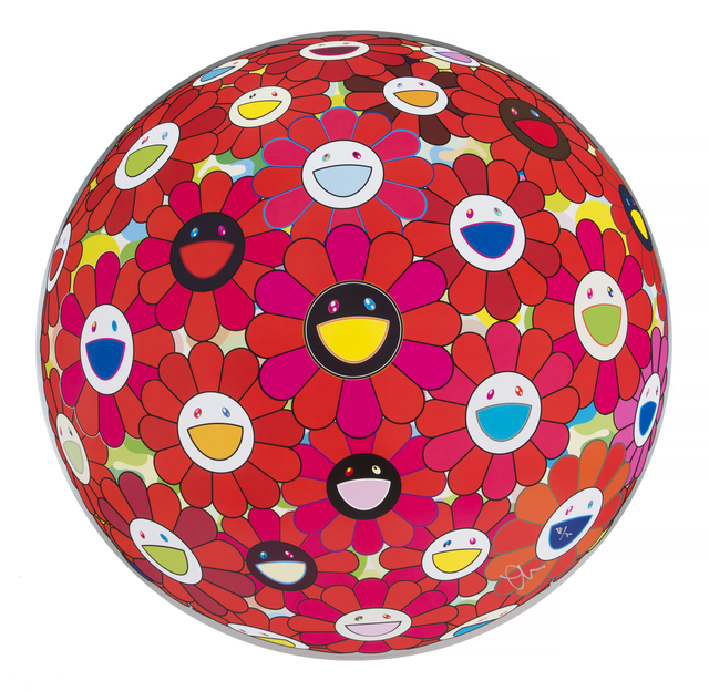 Takashi Murakami, 'Flowerball (3D) - Red Ball', 2013, Julien's Auctions
