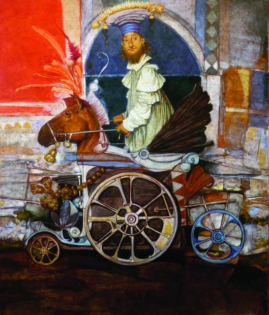 "Daron Mouradian, '""Traveler I"" / ""Seyyah I""', 2014, Galeri 77"