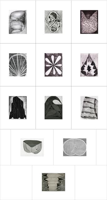 Brian Cypher, 'Entrances, Exits & Entropy', 2014, Print, Portfolio of twelve etchings, Manneken Press