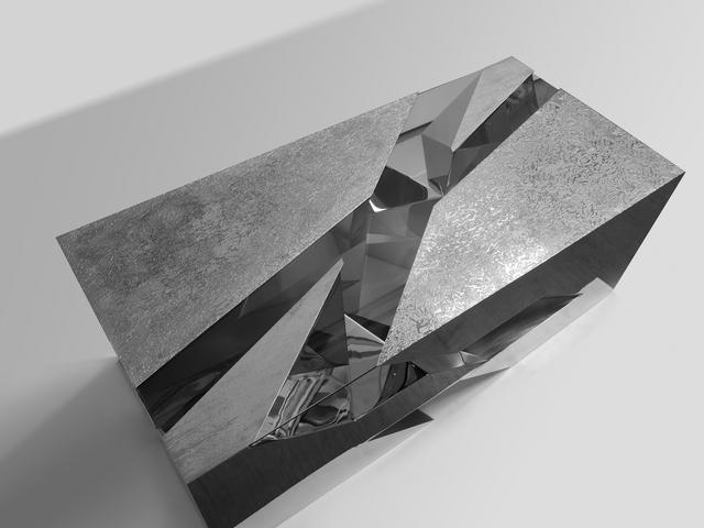 , 'Cross Cut Low Table in Nickel Plated Metal,' 2013, Garrido Gallery