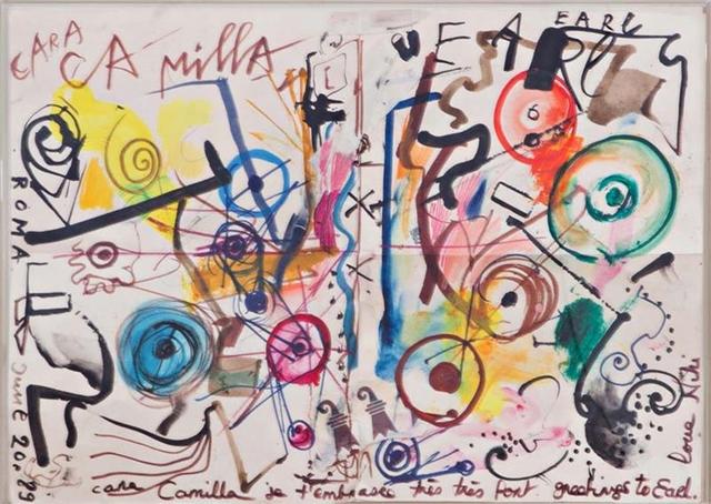 ", '""Cara Camilla"",  dedicated and inscribed to Camilla and Earl McGrath,' 1989, Alpha 137 Gallery"