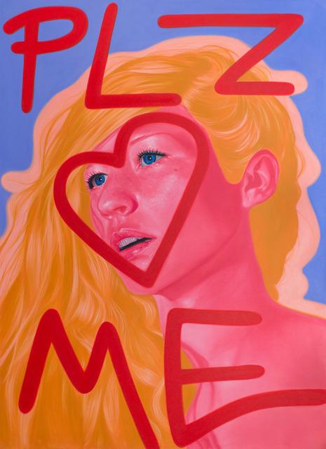 , 'plz ♡ me,' 2017, Duran Mashaal