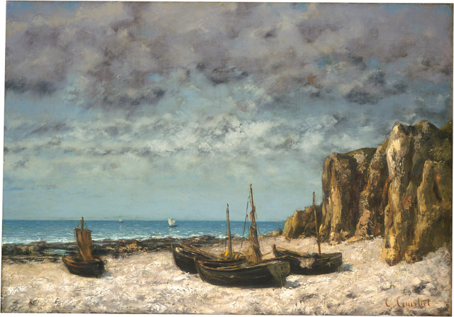 Gustave Courbet, 'Boats on a Beach, Etretat', ca. 1872/1875, National Gallery of Art, Washington, D.C.