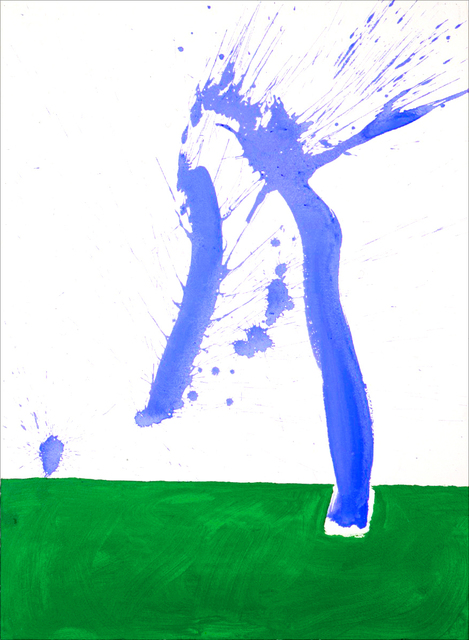 , 'Study in Watercolour #1 (In Green and Blue),' 1968, Bernard Jacobson Gallery