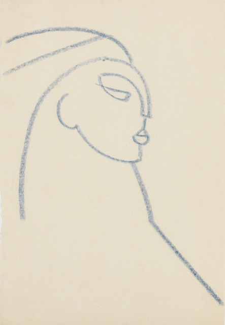 , 'Head, Facing Right,' ca. 1921, New York Studio School