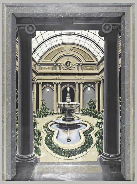 Richard Haas, 'Scenic Panel, Garden Court, The Frick Museum', 1977, Alpha 137 Gallery