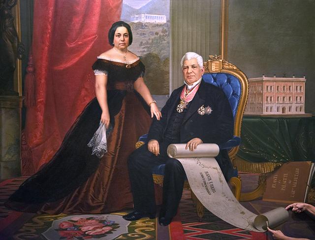, 'Le Baron et la Barone de Nova Friburgo (1867), peinture d'Emil Bauch (1823- 1890),' 2015, Espace L