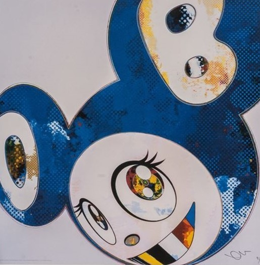 Takashi Murakami, 'AND THEN x 6 ( BLUE: THE POLKE METHOD )', 2012, Dope! Gallery