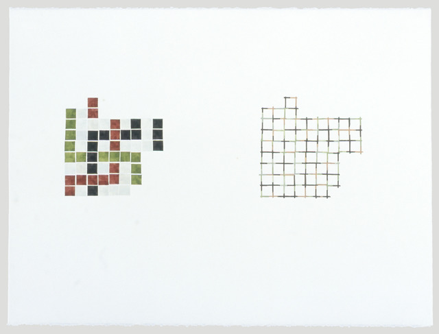 , 'Study for Entry Borders and Corners #1,' 1999, Rhona Hoffman Gallery
