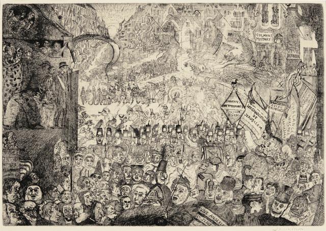 James Ensor, 'The Entry of Christ into Brussels', 1899, Harris Schrank Fine Prints