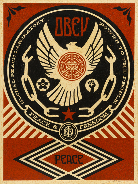 Shepard Fairey (OBEY), 'Peace And Freedom Dove', 2014, Julien's Auctions