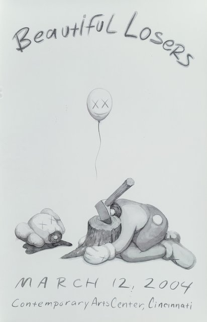 KAWS, 'Beautiful Losers, exhibition poster', 2004, Posters, Offset lithograph in colors on smooth wove paper, Heritage Auctions