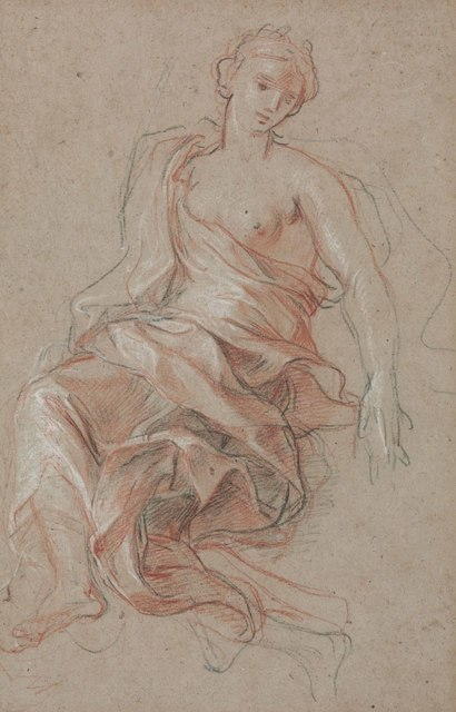 , 'A draped female figure (study for L'Abondance),' , Christie's Old Masters