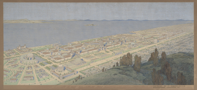 Jules Guérin, 'Panoramic View of the Panama-Pacific International Exposition', 1913, de Young Museum