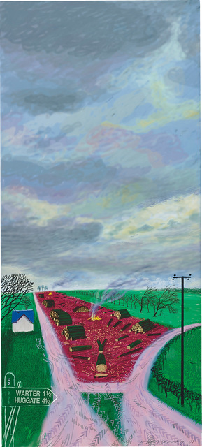 David Hockney, 'Less Trees Near Warter', 2009, Phillips