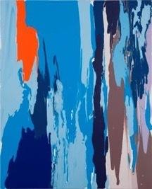 , 'darkbluelightbluebrownbeigeorange pour,' 2012, Heather Gaudio Fine Art