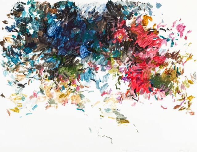 Uwe Kowski, 'hinterm Haus', 2019, Drawing, Collage or other Work on Paper, Watercolour, Galerie EIGEN + ART