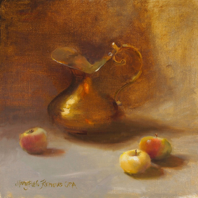 Mary Beth Karaus, 'Apples and Brass Pitcher', 2019, Wally Workman Gallery