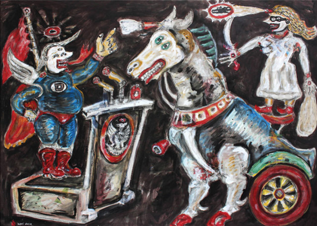 , 'Protectionism that's Afraid of the Trojan Horse,' 2017, The Columns Gallery