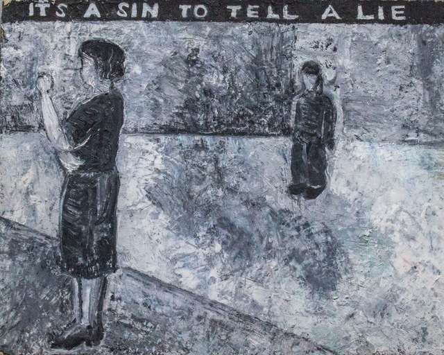 , 'It's a Sin to Tell a Lie,' 1985, Edward Thorp Gallery